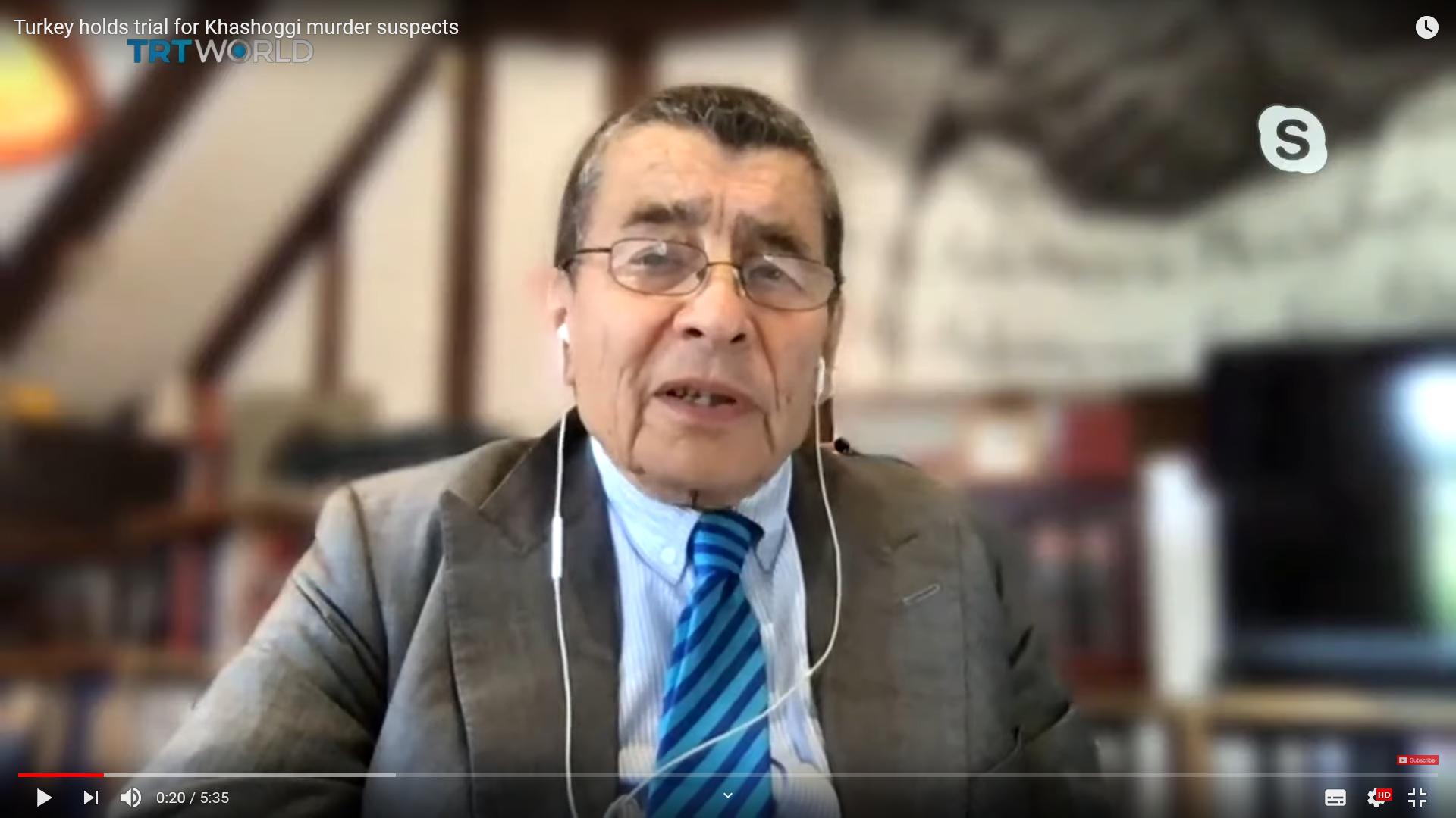 Sir Geoffrey Nice on TRT World – Turkey holds trial for Khashoggi murder suspects