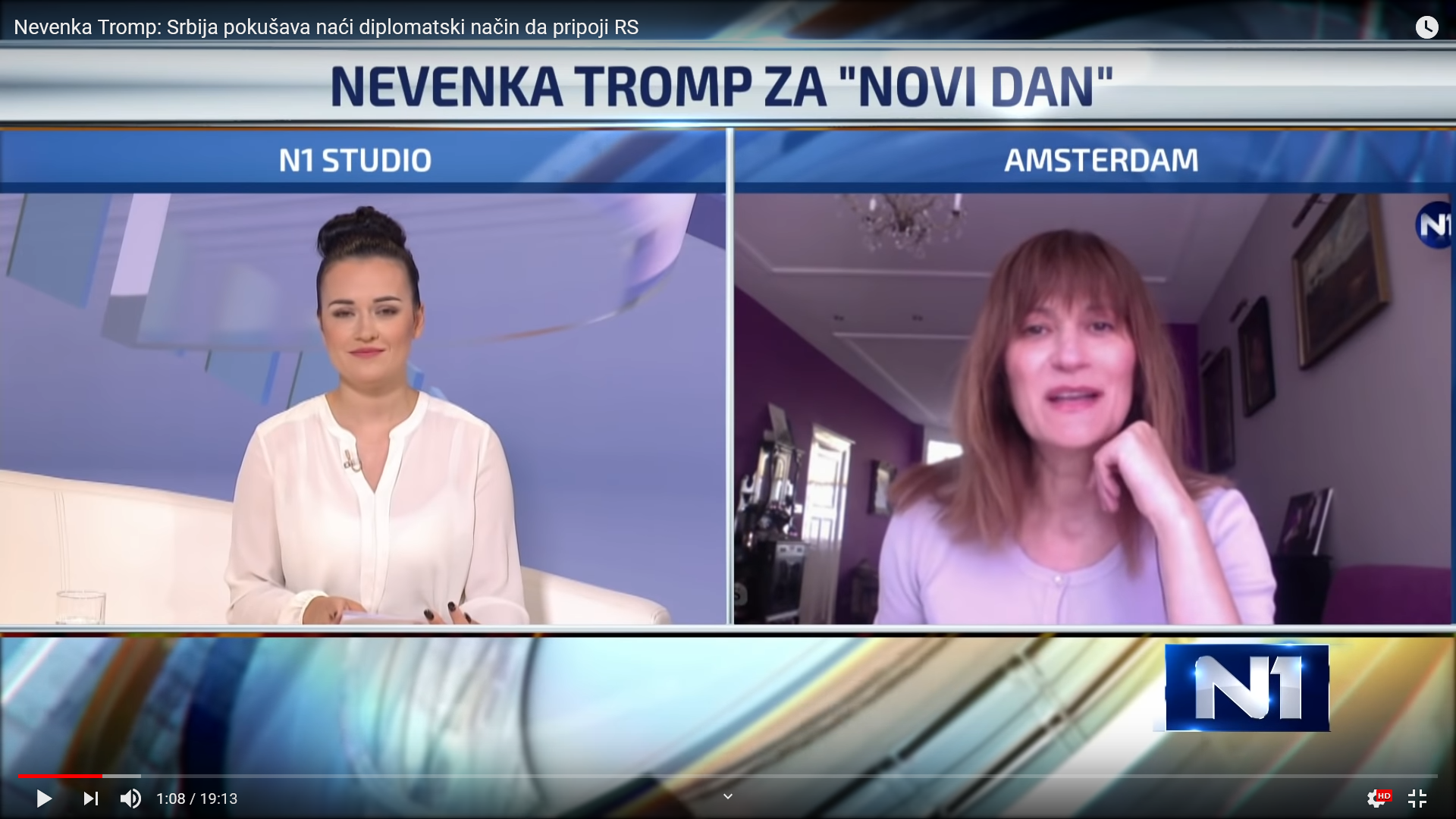 Nevenka Tromp interview, N1 TV